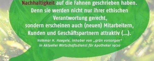 Nachhaltigkeit in Apotheken & Arztpraxen Volkmar Haegele @ AWA